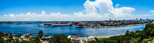 Está imagen fue tomada desde el otro lado de la isla, cruzando el puente que es un acceso más rápido para llegar al Morro.